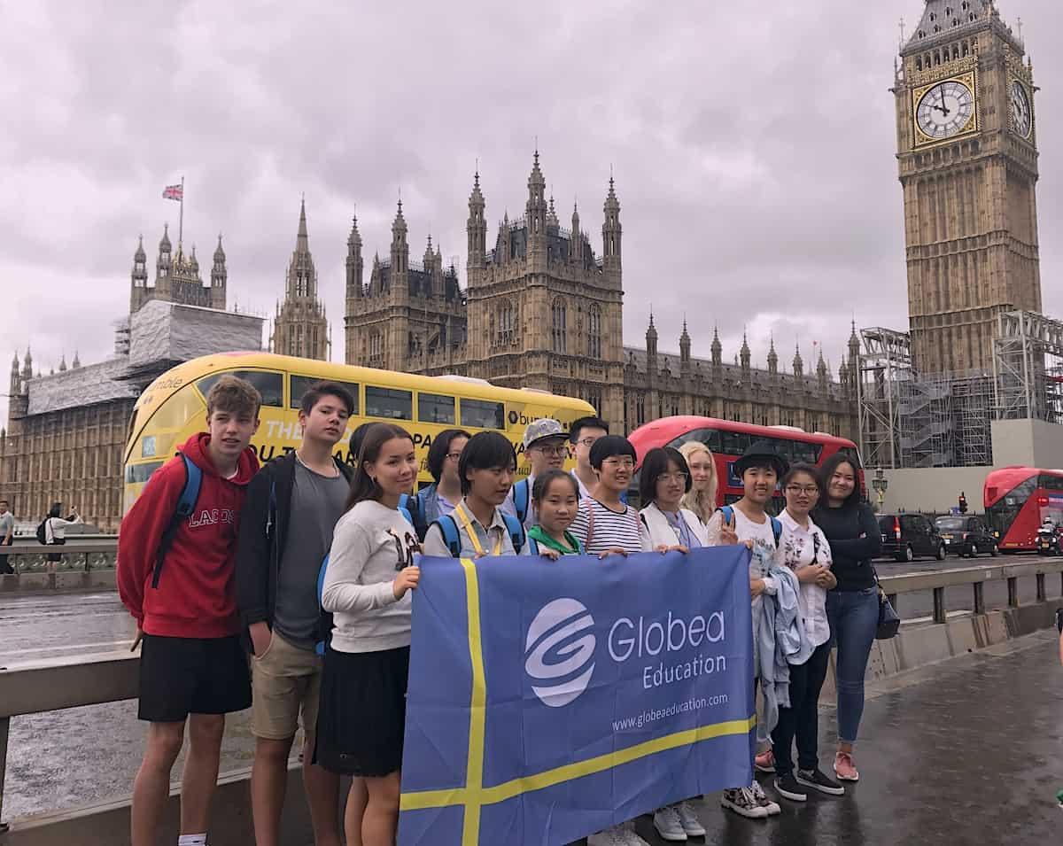 Globea Student grupp westminister flagga